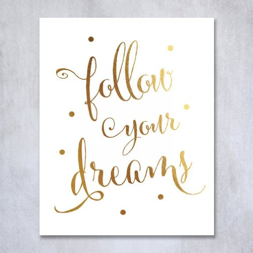 Follow Your Dreams Art Print | Gifts For Girls