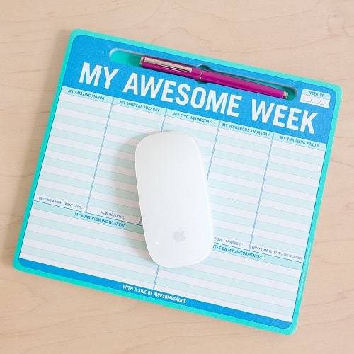 Knock Knock My Awesome Week Pen-To-Paper Mousepad | Gifts For Girls