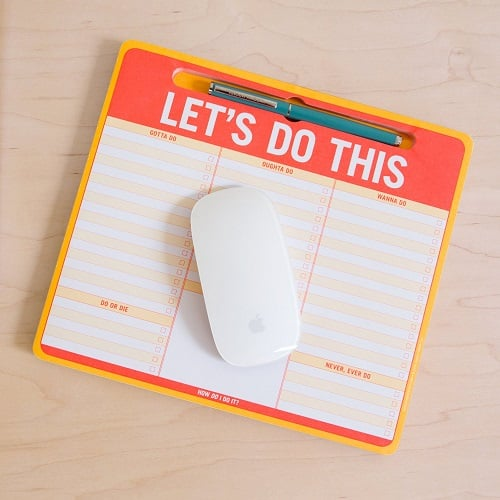 Let's Do This Pen-To-Paper Mousepad (Back to school essentials for high school)