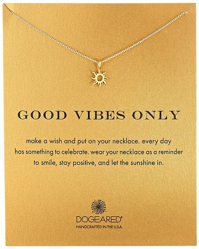 Dogeared Good Vibes Only Necklace