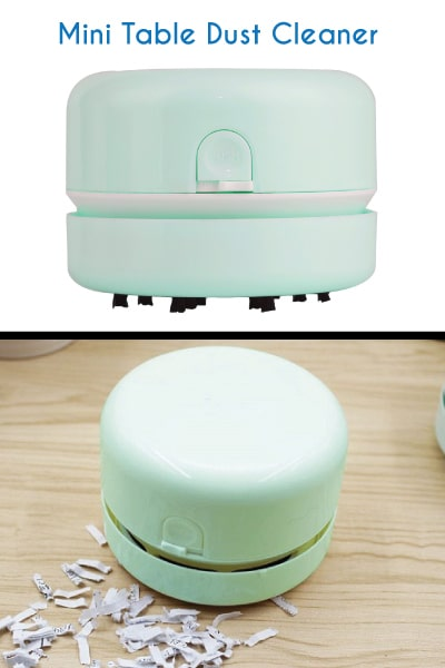 Mini Table Dust Vacuum Cleaner. Dorm room essentials. Going to college gift ideas for guys.