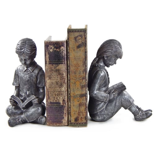 Reading Children Bookends | College Girl Birthday Gifts