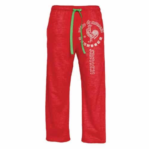 Sriracha Pajama Pants- Off to college gift ideas for boys.