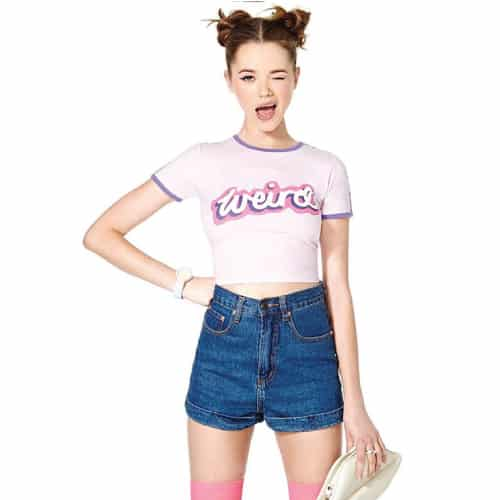 Weirdo Fun Crop Tops Shirt. Cool back to school outfits.