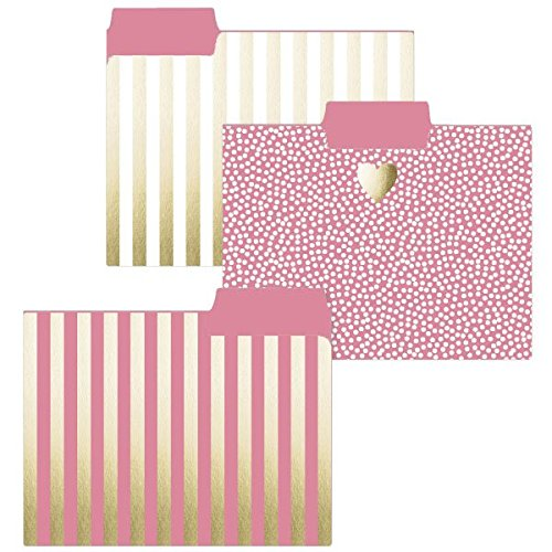 Graphique Gold Heart File Folders