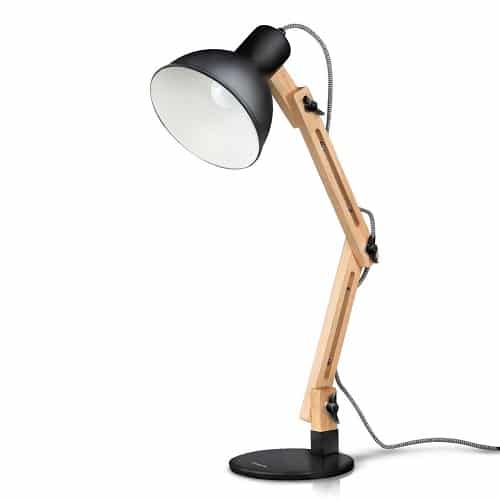 Tomons Scandinavian Wood Desk Lamp. Dorm room essentials. Going Away To College Gift Ideas For Boyfriend