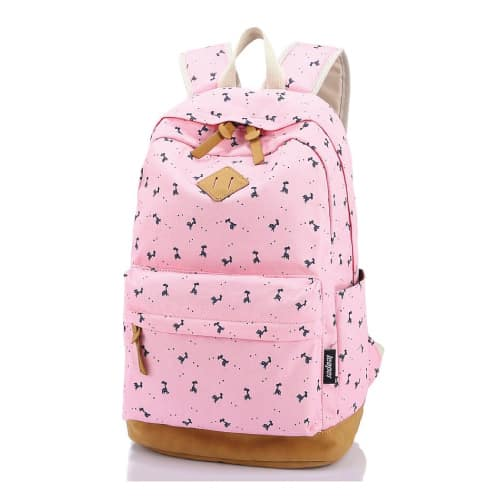 Leaper Canvas Laptop Backpack. School Supplies for Girls.