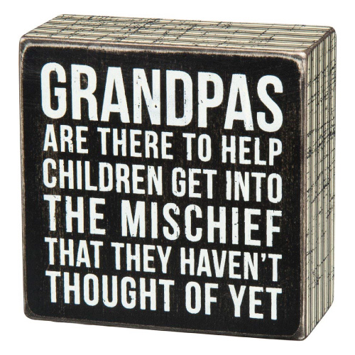 Grandpa Sentiment Box Sign