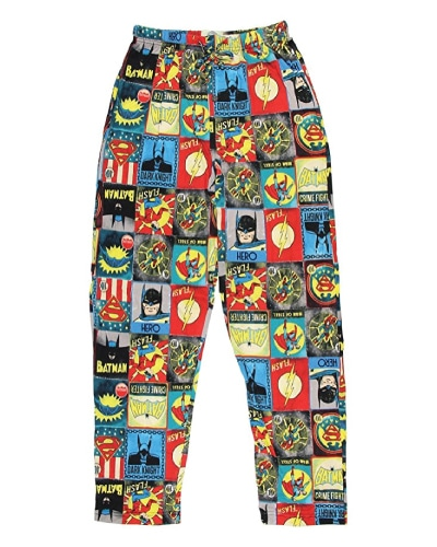 DC Comics Justice League Pajama Pants. Going away gifts for boyfriend college