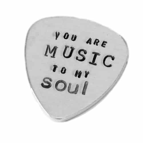 You are MUSIC to My Soul Guitar Pick | Off To College Gift Ideas For Boyfriend