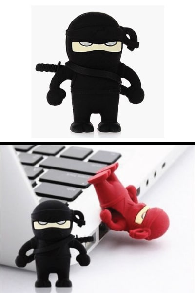 Ninja USB Flash Drive. Dorm room supplies. School supplies college. Going to college gifts for boyfriend