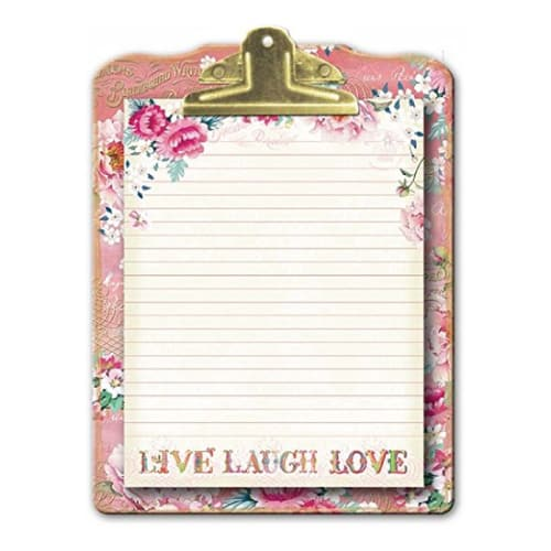 Floral Clipboard & Note Pad Set