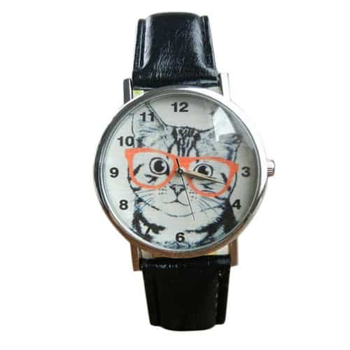 Scholar Cat Wrist Watch
