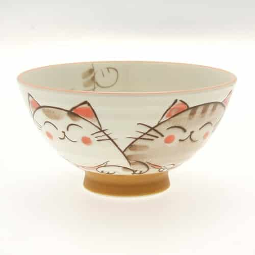 Japanese Cat Pattern Bowl