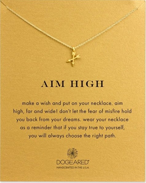 Aim High Crossing Arrows Necklace