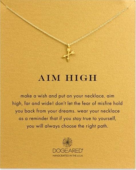 Aim High Crossing Arrows Necklace