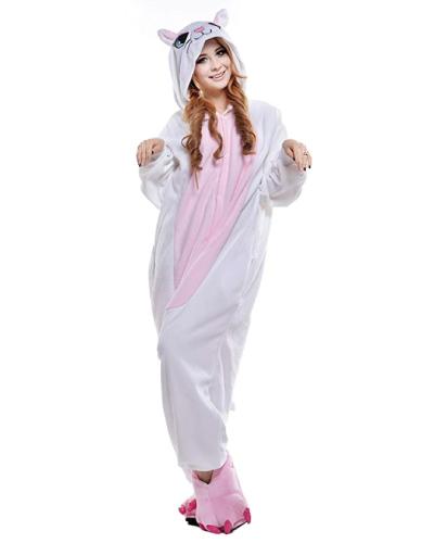 White Cat Onesie Pajama