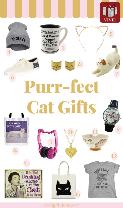 Christmas gifts for cat lovers. Cat lover gifts. Gifts for cat ladies.