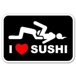 I Love Sushi Bumper Sticker