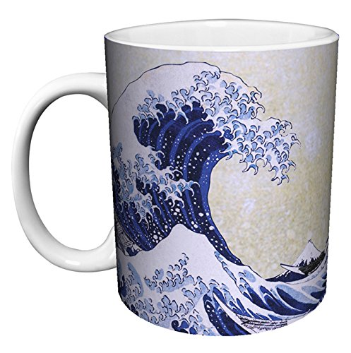 Katsushika Hokusai The Great Wave Japanese Fine Art Ceramic Coffee Mug
