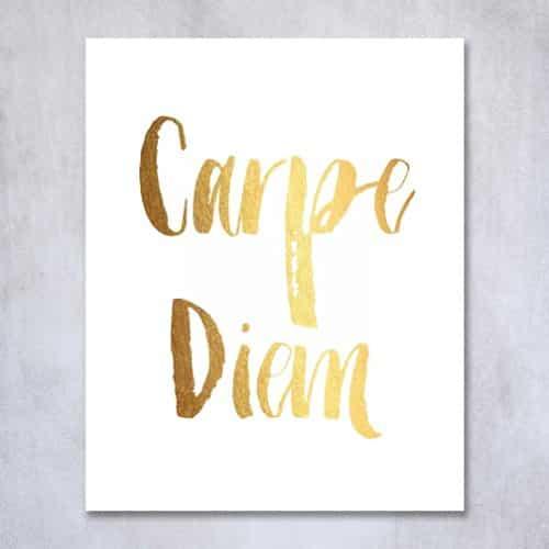 Carpe Diem Gold Foil Poster