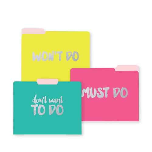 Neon Decorative File Folders