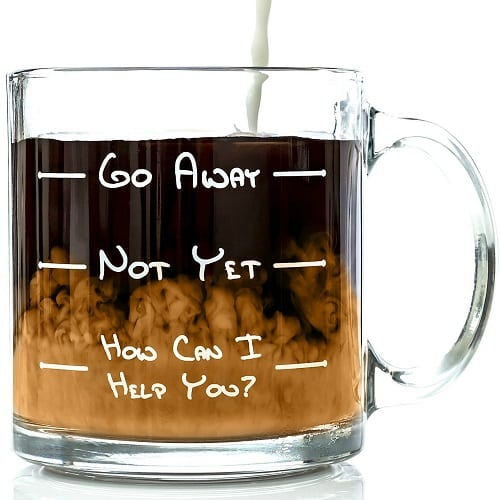 Go Away Funny Coffee Mug - Funny Cute Coffee Mugs