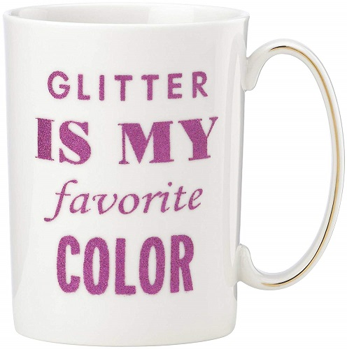 Kate Spade New York SIMPLY SPARK MUG Glitter