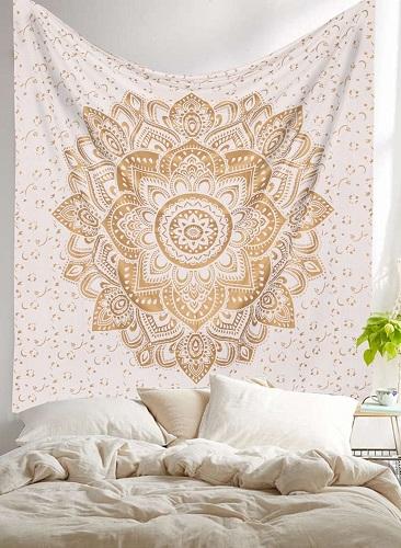 Golden Ombre Mandala Tapestry