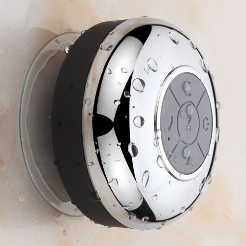 Chrome IPX4 Bluetooth Shower Speaker