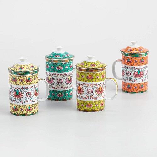 Shanghai Infuser Porcelain Teacup Mug