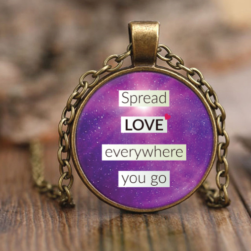 Spread Love Everywhere You Go Necklace (Christmas gifts for college students)