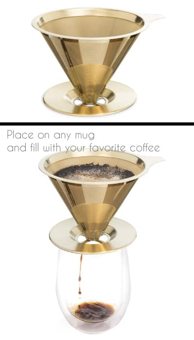 Osaka Titanium Coated Pour Over Coffee Dripper