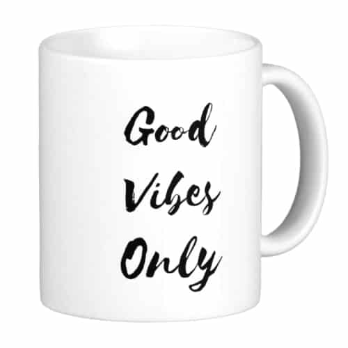 Good Vibes Only Mug. Dorm essentials for girls room. Dorm room ideas.