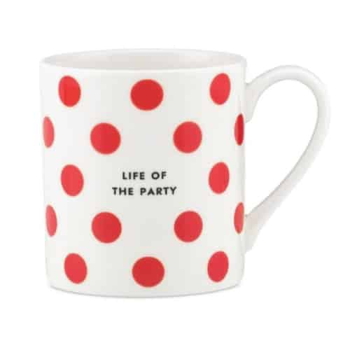 Life of The Party Mug by Kate Spade