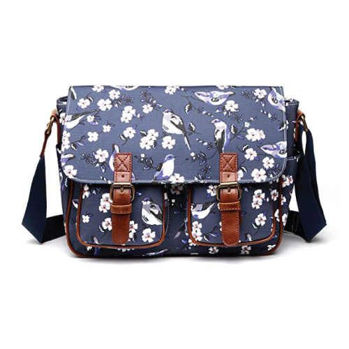 Miss Lulu Floral Messenger Bag