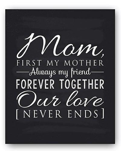 Mom Poem Chalkboard Print