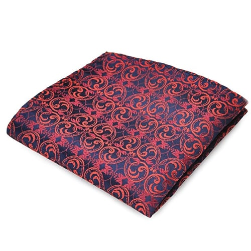 Silk Floral Paisley Pocket Square