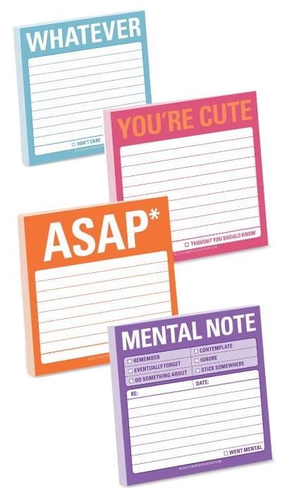 Knock Knock Sticky Note Pad