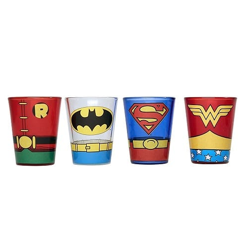 Superheroes Shot Glass Set