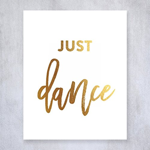 Just Dance Gold Foil Art Poster