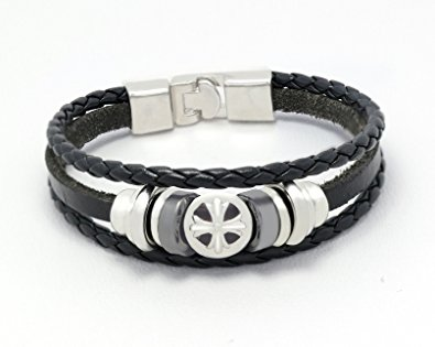 Resemblance Cross Leather Bracelet