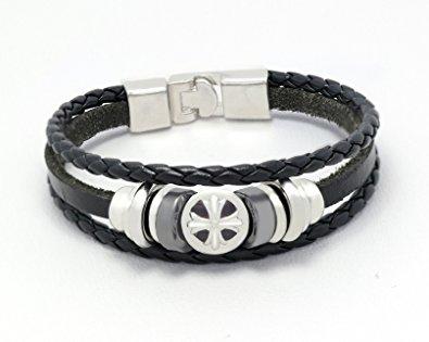 Resemblance Cross Leather Bracelet