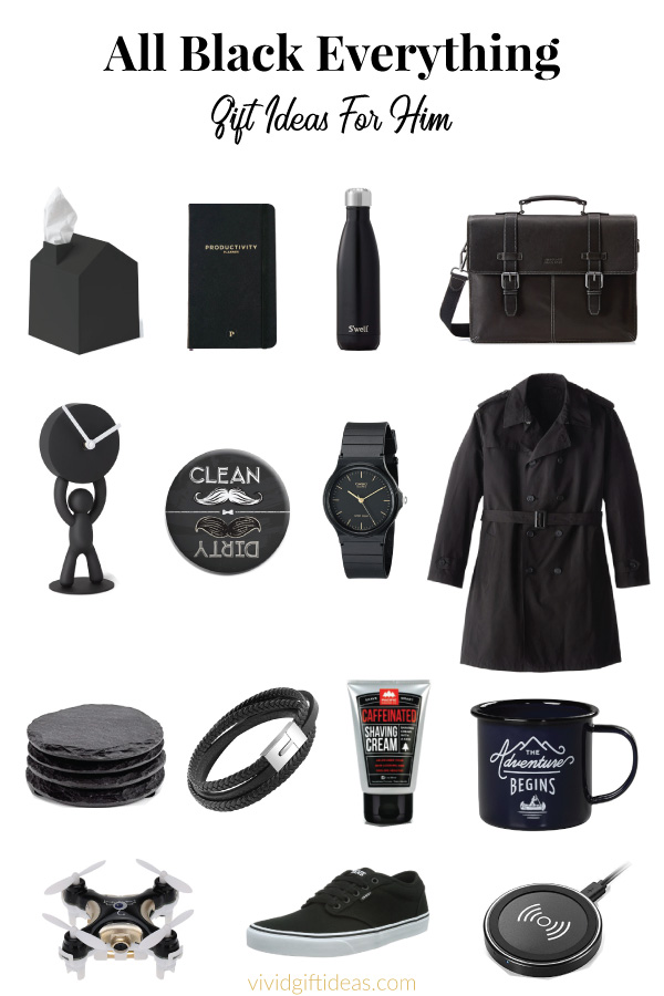 all black everything gifts for him