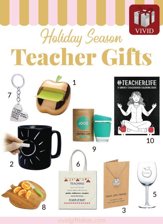 Christmas gifts for teachers. Teacher appreciation gifts