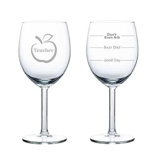 Funny Teacher Wine Glass