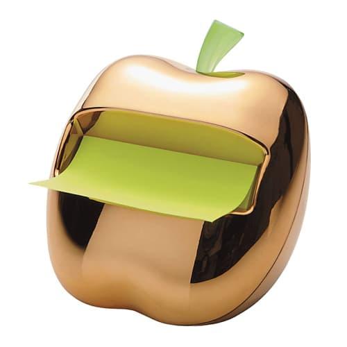 Gold Apple Sticky Note Dispenser