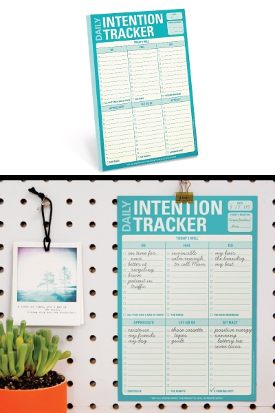Daily Intention Tracker Note Pad