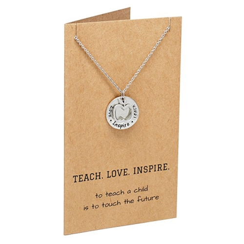 Teach. Love. Inspire. Teacher Necklace