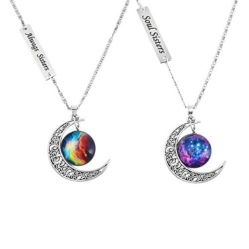 Love Across Light Years Friendship Necklace Set